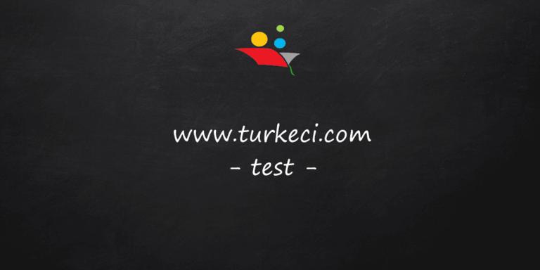 Türkçe Testleri