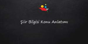 9. Sınıf Şiir Bilgisi Konu Anlatımı
